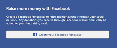 Step 1: Raise more money with Facebook
